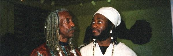Ɔbenfo Kamau Kambon and Okunini Ọ̣bádélé Kambon at the Sankɔfa Conference