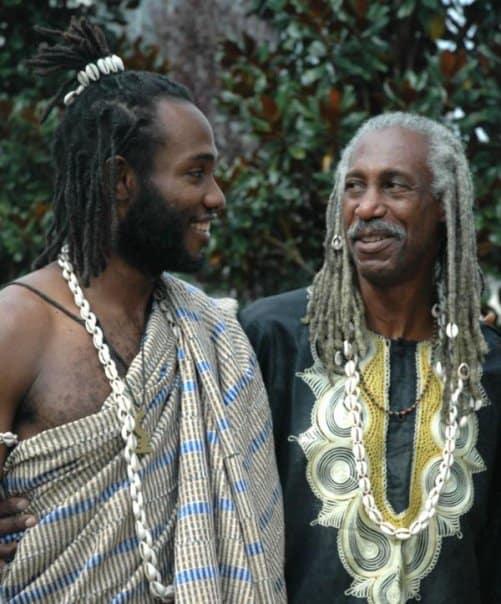 Obadele Kambon and Baba Kamau at a wedding