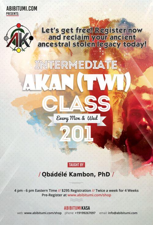 Akan Class Intermediate Online