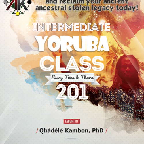Yoruba 201 Intermediate Class Online