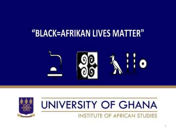 BLACK=AFRIKAN LIVES MATTER