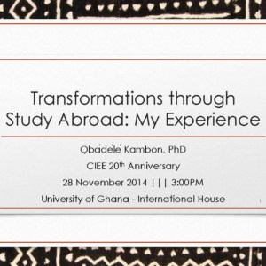 Transformations through Study Abroad