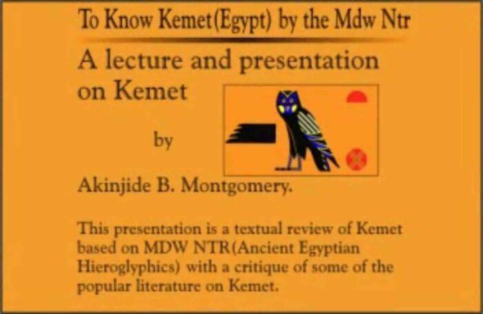 To Know Kemet by Akínjídé Bonotchi Montgomery