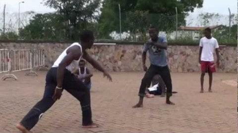 12-02-2012 Abibifahodie Capoeira Accra Ghana End of Class Roda