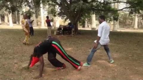 Asako (Capoeira) Light Sparring against Tae Kwon Do