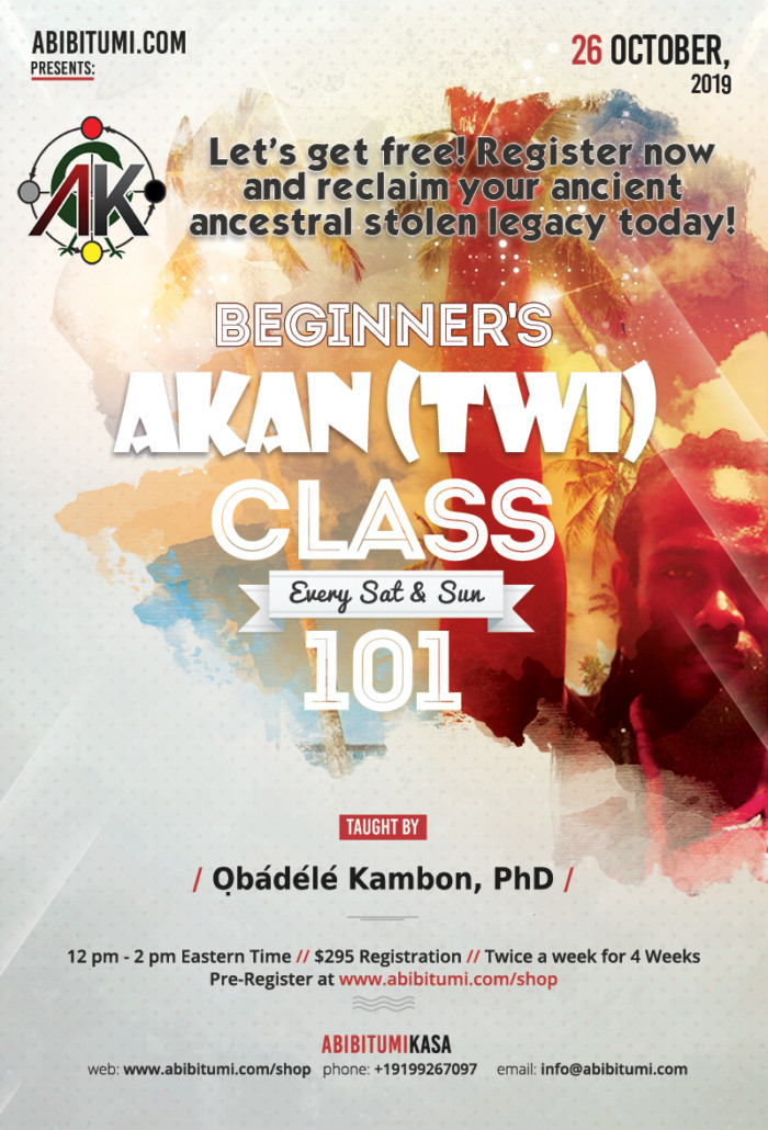 Introductory Asante Twi class online Akan