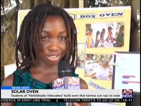 Abibifahodie Adesuabea Solar Oven Project on JoyTV News!!!
