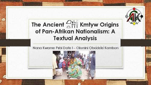 ancient origins of pan-afrikanism