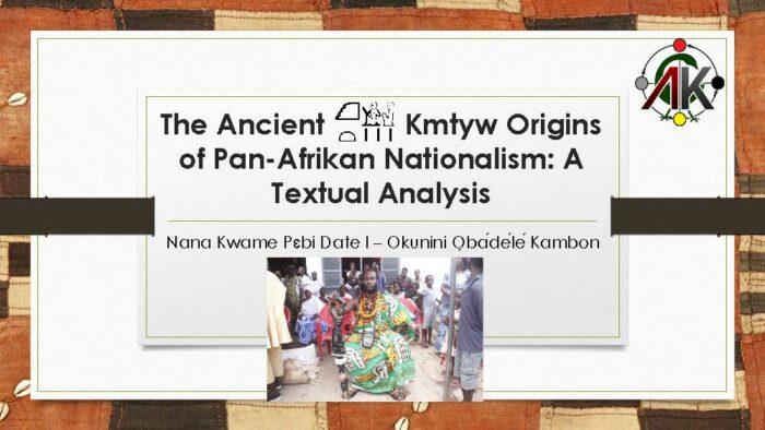 ancient origins of pan-afrikanism