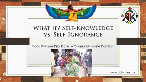 self-knowledge vs self-ignorance