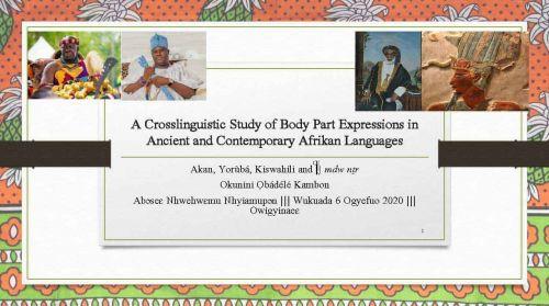 Akan, Yoruba Kiswahili mdw nTr Body Part Expressions