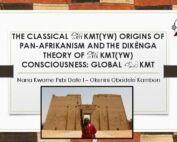 Obadele Kambon Kmtyw origins of Pan-Afrikanism