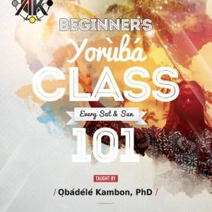 Beginner's Intro Yorùbá Class Live Online