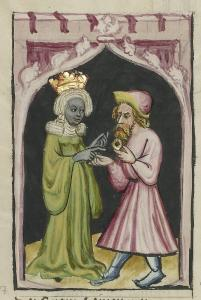 moses leaves tabris the kings daughter with a magic ring germany 1400 1410