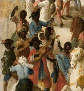 Black Africans dancing in Seville in 1748